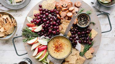 voedsel op een plank