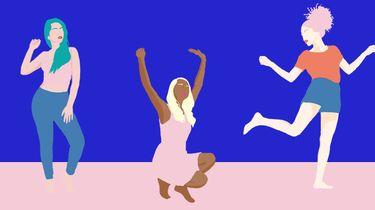 meisjes dansen illustratie
