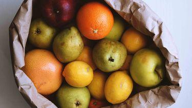 fruit in een zak