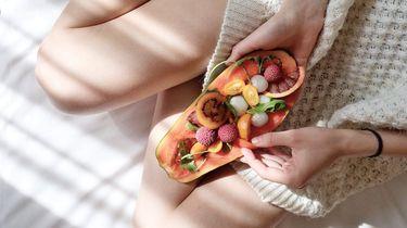 vrouw die gezond eten belangrijk vindt