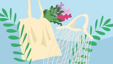 Plasticvrij leven tips illustratie