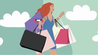 meisje aan het shoppen