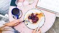 ontbijtje met veel fruit en voedingsstoffen tegen stress
