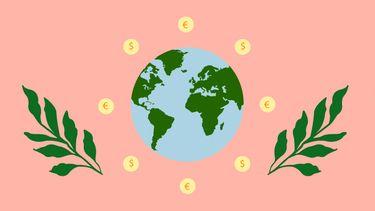 illustratie wereld geld