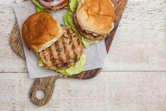 Vegan sea food burger