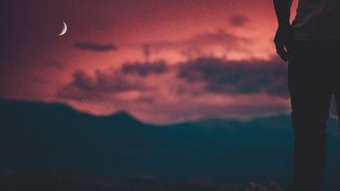 maan rode lucht