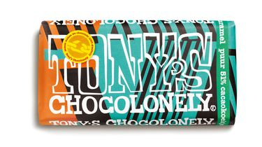 Limited Tony's Chocolonely Puur Cacaokoekje Karamel