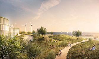 Tekening van eilanden met duurzame energie in Denemarken 3
