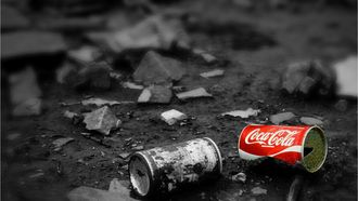 coca cola afval
