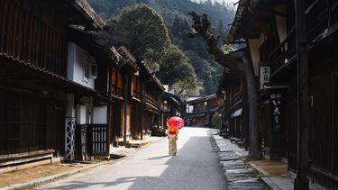 Vrouw in Japan