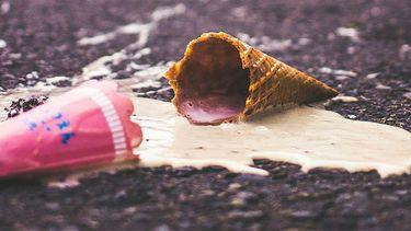 gevallen ijsje