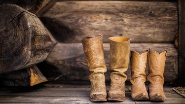 Leren cowboy laarzen