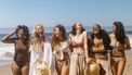 groep vrouwen op strand