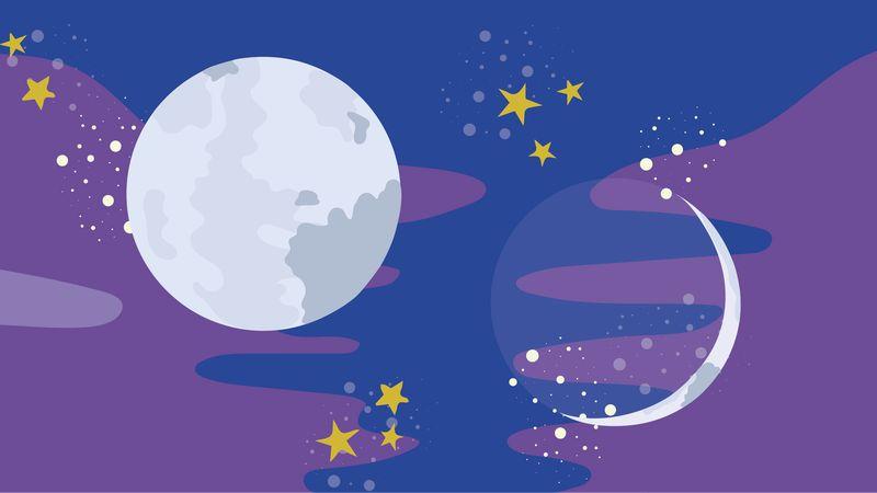 nieuwe maan volle maan