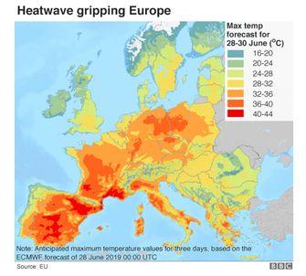 kaart hittegolf klimaatverandering
