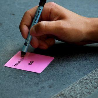 herbruikbare post-it's van nano note