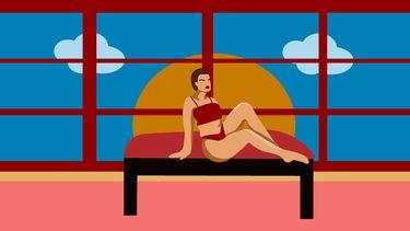 Vrouw die denkt aan mindful seks