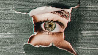 vrouw met droge ogen