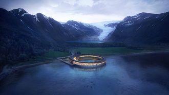 noorwegen, svart, hotel, energiepositief