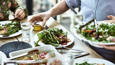 tafel vol groenten