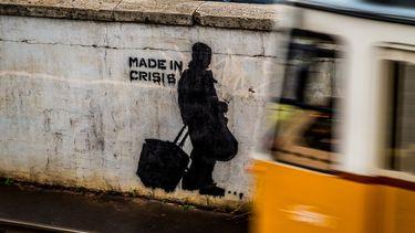 Muur met graffiti
