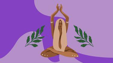 illustratie vrouw die mediteert