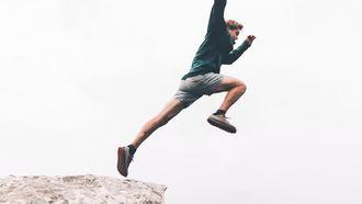 Man heeft growth mindset en gelooft dat hij de sprong kan wagen