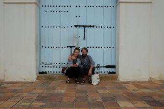 Olaf Boswijk en Mirla Klijn tijdens hun reis