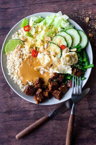 Plantaardige gado gado bowl - #zokanhetook