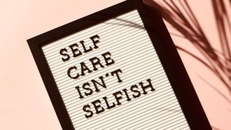 self-care isn't selfish letters