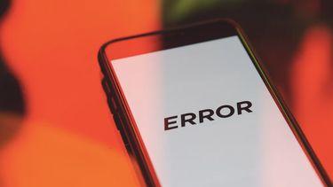telefoon met error