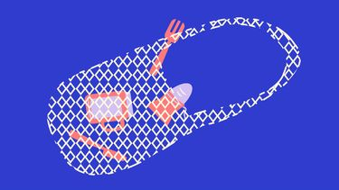 illustratie van een zero waste zakje