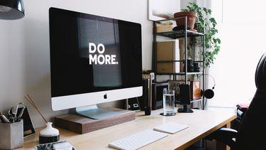 computerscherm die aanspoort tot meer productiviteit
