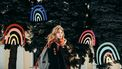 vrouw in herfst met sjaal
