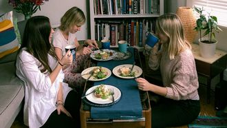 vrouwen met een klimaat-vriendelijk dieet