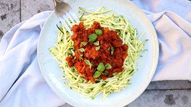 Courgetti met plantaardige bolognesesaus