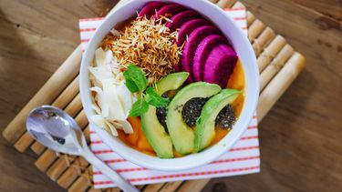 mindful eten schaal met eten