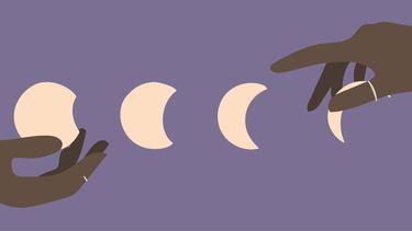 volle maan nieuwe maan illustratie