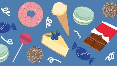 illustratie van snoepjes