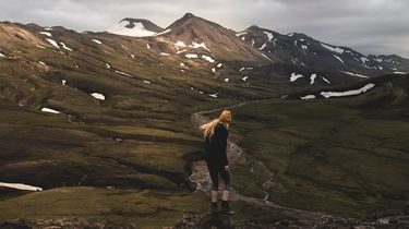 vrouw in IJsland