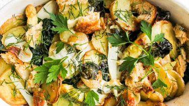 vegetarische aardappel gratin