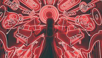 meisje aan het dansen op muziek