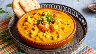 Vegan Indiase pompoencurry