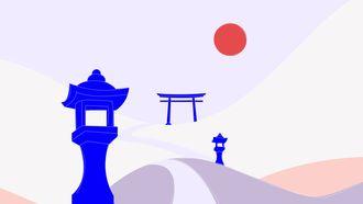 illustratie japanse tuinen