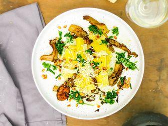 open lasagne met paddenstoelen voor vega vrijdag