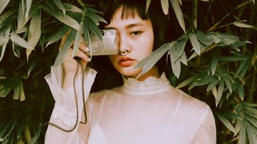 Vrouw met camera