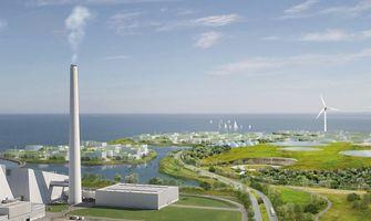 Tekening van eilanden met duurzame energie in Denemarken 2