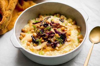 Afbeelding van gestoomde couscous met venkel en olijven 1